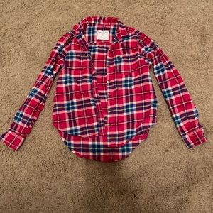 abercrombie kids red flannel